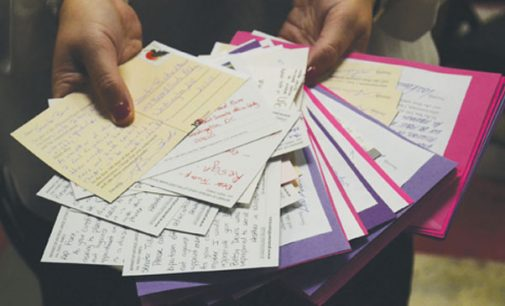 Locals pen more than 200 postcards voicing frustration with Trump