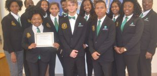 School board recognizes Carver hospitality students
