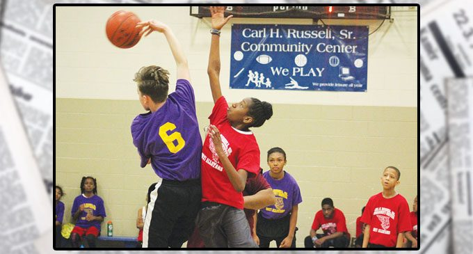 Season finale In basketball league at Carl H. Russell Sr.