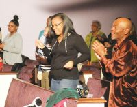 Cornerstone of Faith worships with family and friends