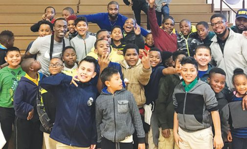 Josh Howard wows the elementary school