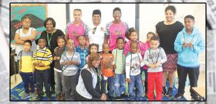 Lady Warcats give back to local elementary school