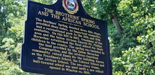 Happy Hill school and spring get historic marker