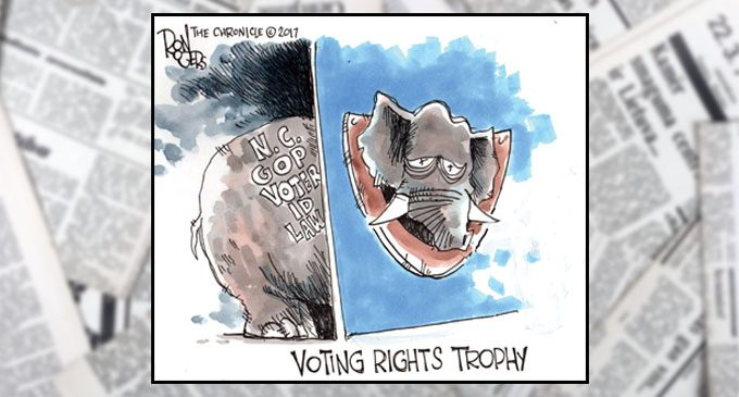 Political Cartoon: Voting Rights Trophy