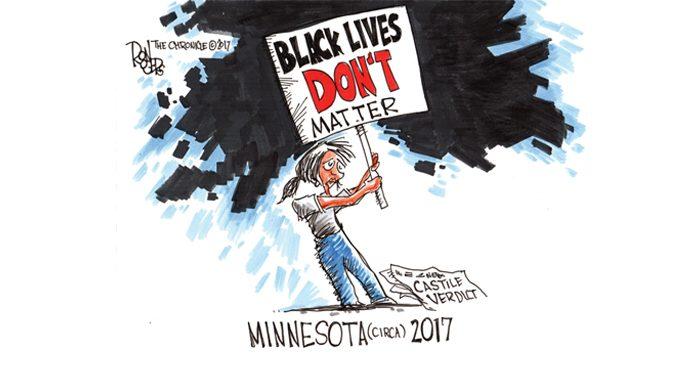 editorial cartoon lives matter ws chronicle