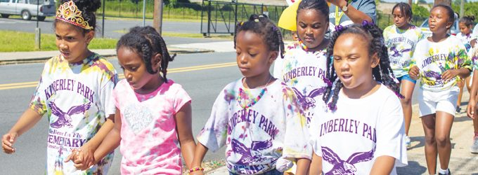 Students march to end hunger