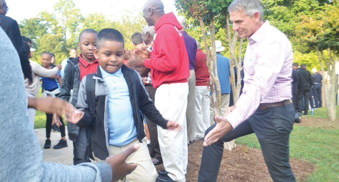 Students receive warm welcome at school
