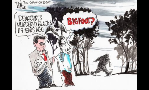 Political Cartoon: Bigfoot?