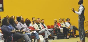 Speaker encourages local educators during conference