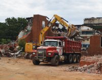 Former Brown Elementary being demolished