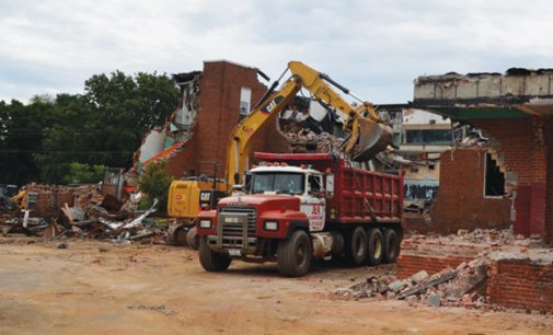 Former Brown Elementary being demolished