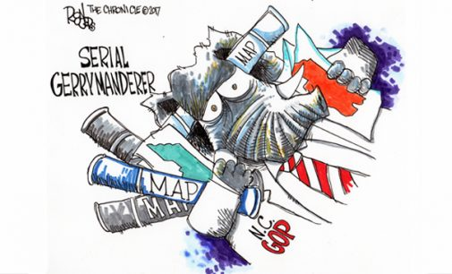 Editorial Cartoon: Serial Gerrymanderer