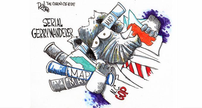 editorial cartoon serial gerrymanderer ws chronicle