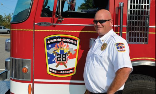 N.C. Insurance commissioner recognize fire departments