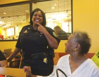 Chief surprises sorority sisters with a visit