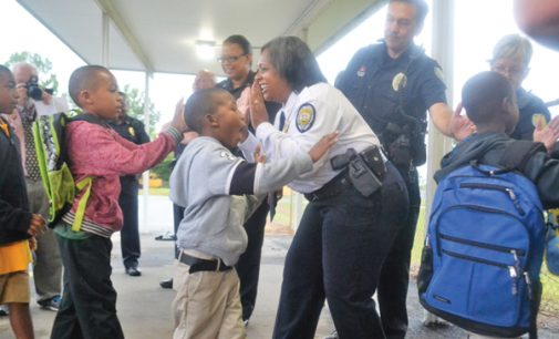 New police chief launches High Five Fridays