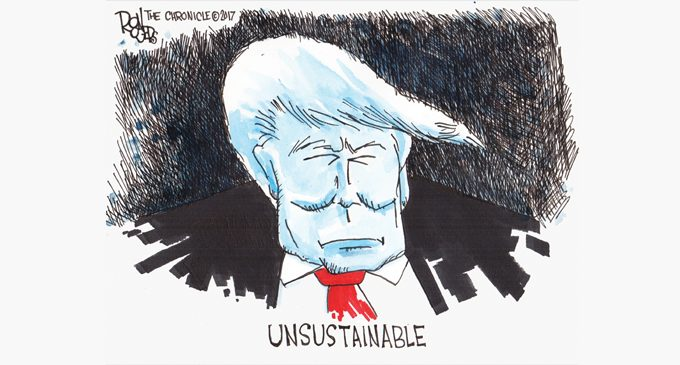 Editorial Cartoon: Unsustainable