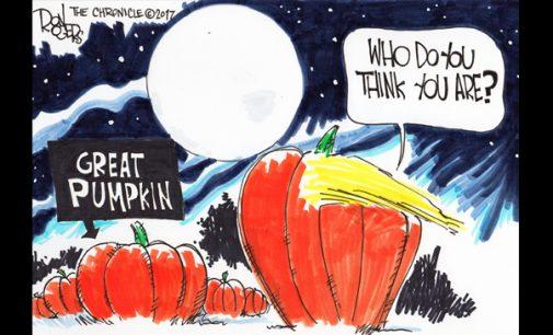 Editorial Cartoon: The Great Pumpkin
