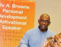 Motivational speaker fulfilling his dream
