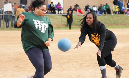 1st Elite 8 kickball game filled with thrills and spills