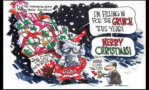 Editorial Cartoon: Grinch Tax Cuts
