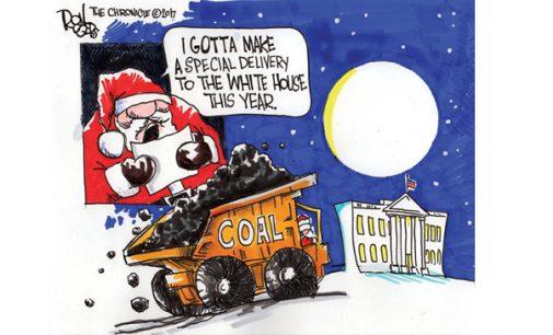 Editorial Cartoon: Coal for Christmas