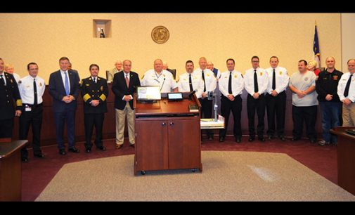 Insurance commissioner recognizes local fire departments