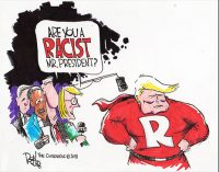Editorial Cartoon: Racist?