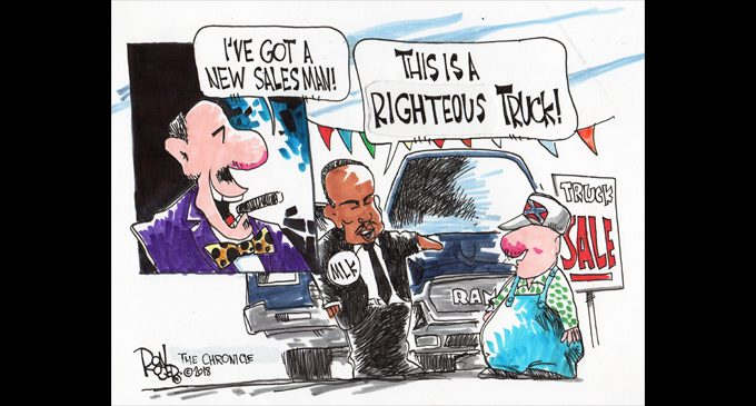 Editorial Cartoon: New Salesman