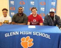 Glenn athletes sign letters of intent