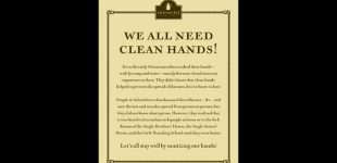 Old Salem promotes clean hands during flu season