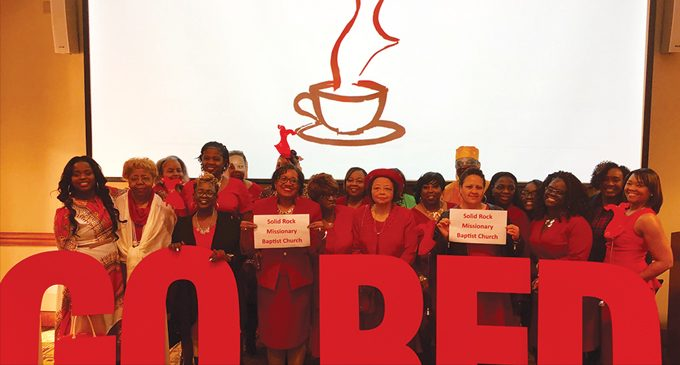 Solid Rock participates in Red Dress Tea