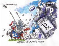 Editorial Cartoon: Opioid Fight