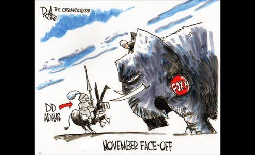 Editorial Cartoon: Adams vs. Foxx