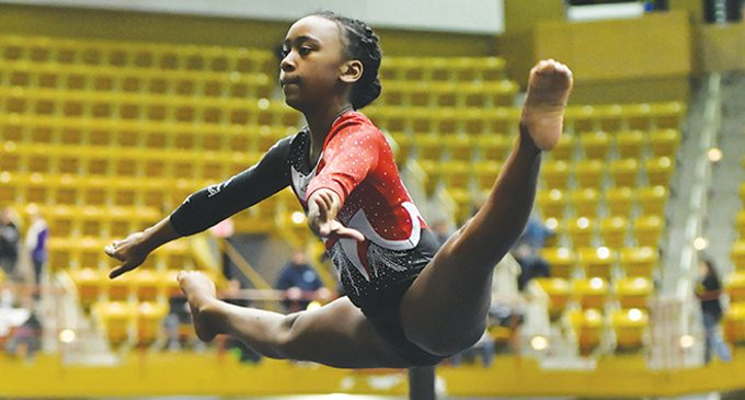 Young gymnast eyes future Olympic games