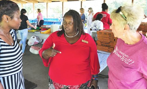 Democratic Women aid teachers with school supplies event