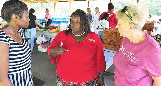 Democratic Women aid teachers with school supplies event