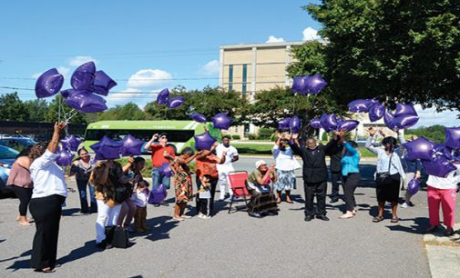 Balloon release marks Domestic Violence Awareness Month