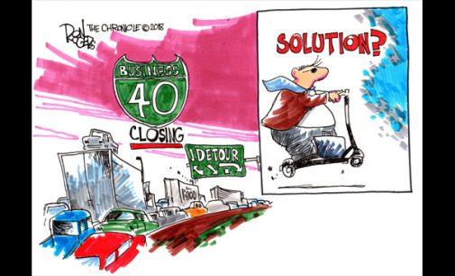 Editorial Cartoon: Business 40 Solution
