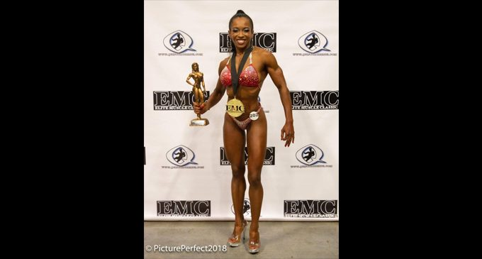 Female bodybuilder wins first competition after years of training