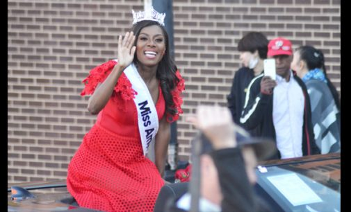 City honors Miss America