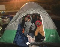 Youth, group teams up with college fraternity for homelessness awareness