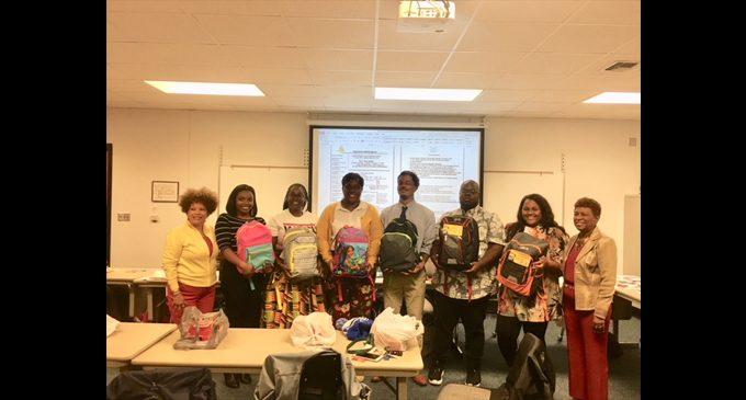 Local Sorority presents school supplies to new teachers