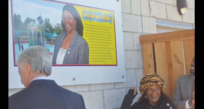 Reid honored with plaque at Waterworks Waterpark