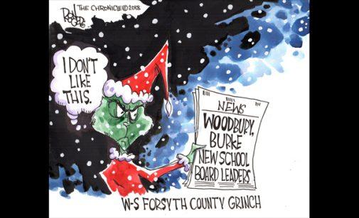 Editorial Cartoon: W-S Forsyth County Grinch