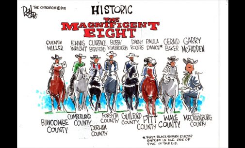 Editorial Cartoon: The Magnificent Eight
