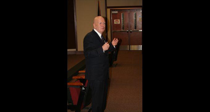 Forsyth Tech president speaks, gains accolades