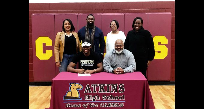 Atkins lacrosse star signs letter of intent
