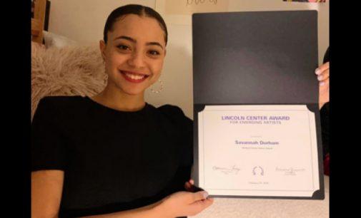 Savannah Durham receives Lincoln Center Emerging Artist award
