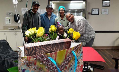 Mrs. Adeline Hodge celebrated her 105th birthday
